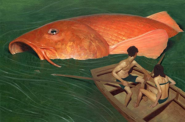 Goldfish - Painting by Jeremy Enecio