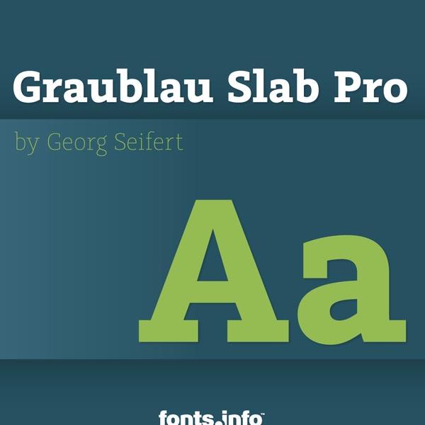 Graublau Slab Pro font designed by Georg Seifert