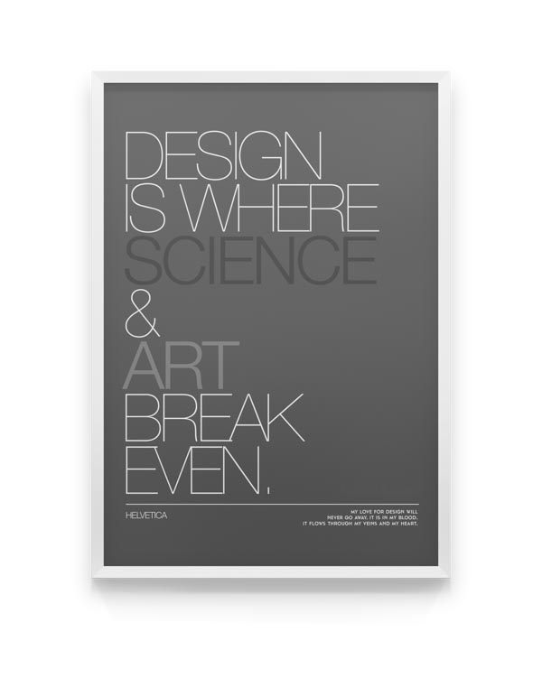 Helvetica - Font Poster Design by Moe Pike Soe