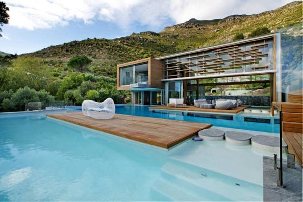 Spa house in cape town south africa by metropolis design for Luxury pool house plans