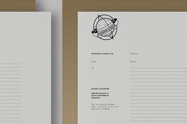 McCooper Studios - Stationery Design by Royal Studio