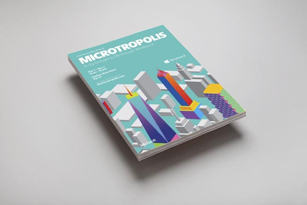 Microsoft - Microtropolis Identity Design by Mother Design