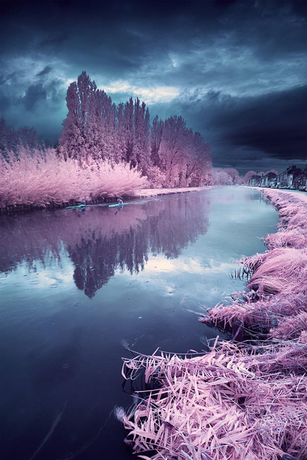 Misty Rainy Day - Infrared Landscape Photography by David Keochkerian