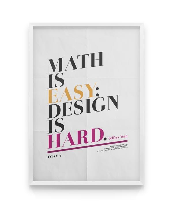 Otama - Font Poster Design by Moe Pike Soe