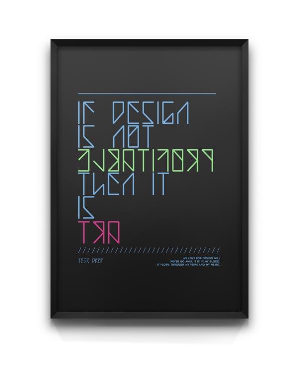 Teardrop - Typeface Poster Design by Moe Pike Soe