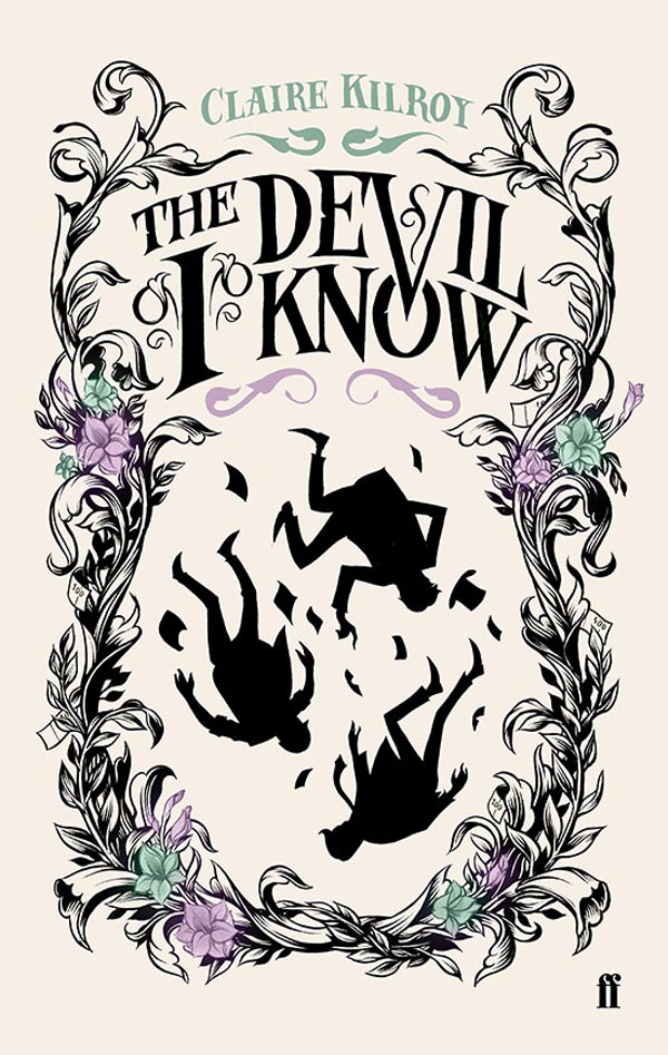 The Devil I Know - cover illustration and hand-lettering for Faber & Faber by Monaux