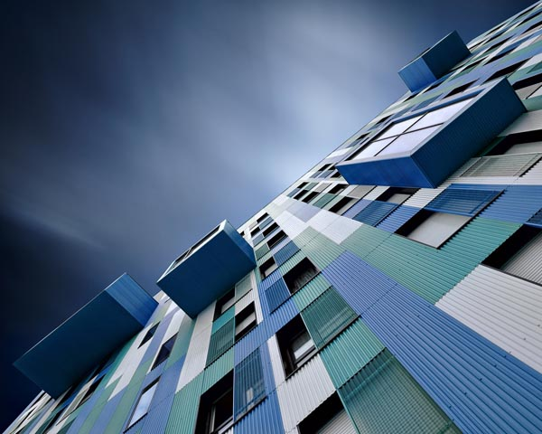 Touch of Blue - Long Exposure Urban Architecture Photography by David Keochkerian