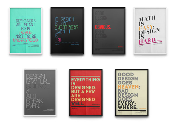 Tribute to Fonts - Typographic Poster Series by Moe Pike Soe