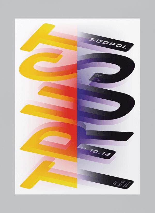 Trust - Südpol Typographic Poster Design by Felix Pfäffli