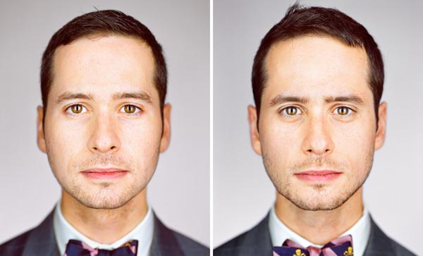 Twin brothers Nate Mueller and Kirk Mueller photographed by Martin Schoeller