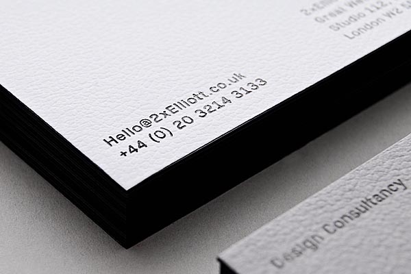 Two Times Elliott - Corporate Stationery - Detail Shot