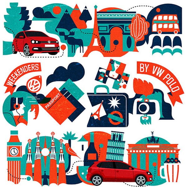 Volkswagen on Look at me - Europe Illustrations by Iv Orlov