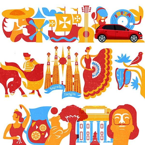 Volkswagen on Look at me - Spain Illustrations by Iv Orlov