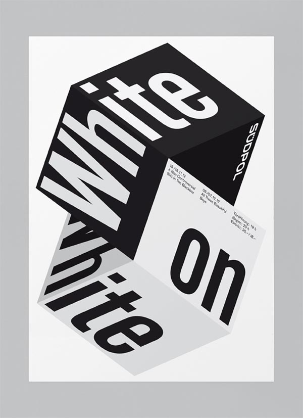 White On White - Südpol Graphic Poster Design by Felix Pfäffli