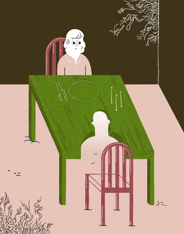 on the theme of absence - personal illustration by Gracia Lam