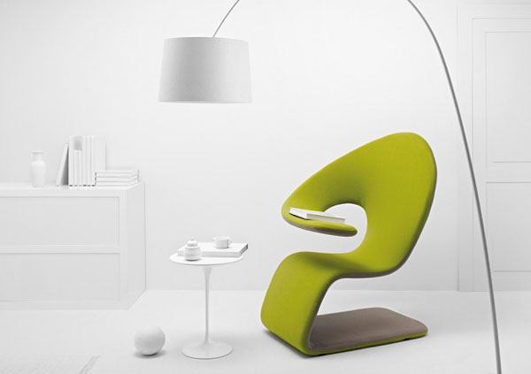 Aleaf - a flexible chaise longue and armchair by Michele Franzina and Venezia Homedesign