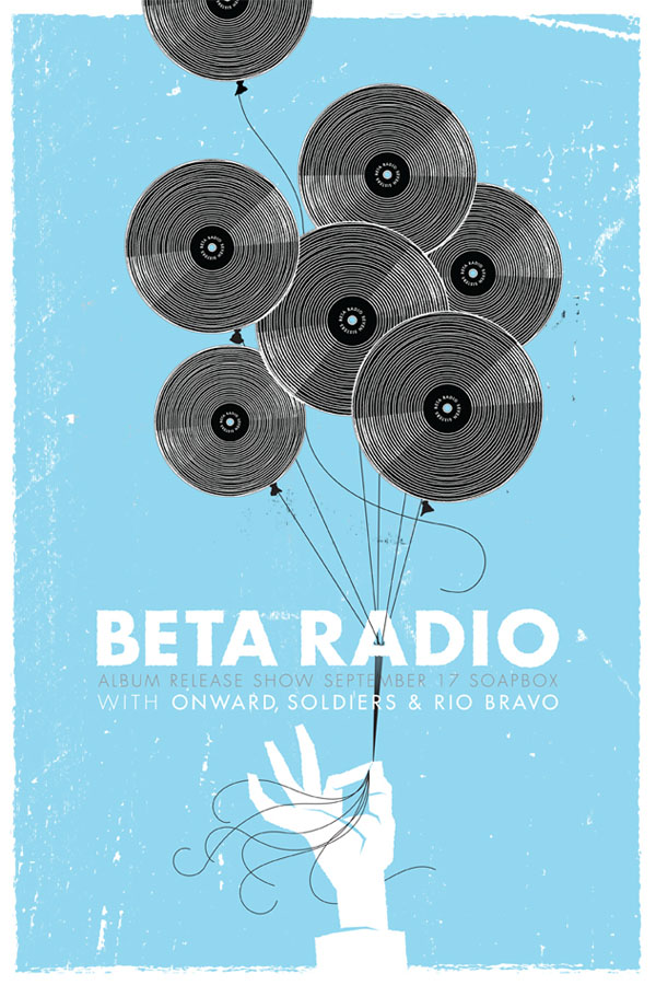 Beta Radio Poster Illustration by Reedicus
