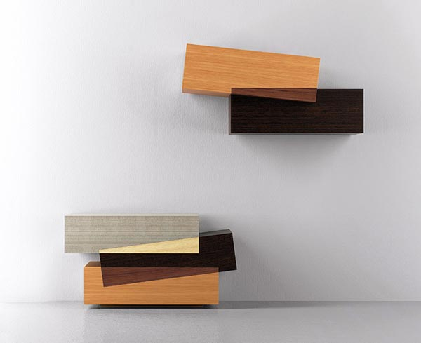 Deconstructivism Furniture Interior Design ~ Booleanos cabinet furniture design by joel escalona