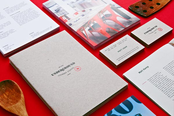 Branding and Graphic Design for Underground Cookery School by Two Times Elliott