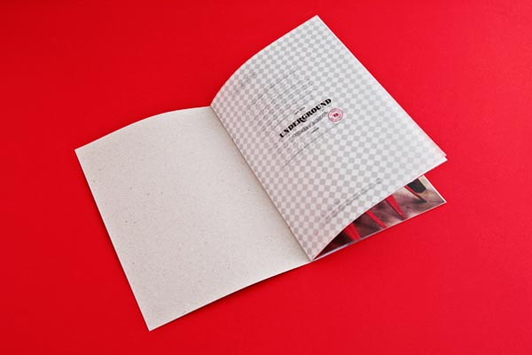 Brochure Design for Underground Cookery School by Two Times Elliott