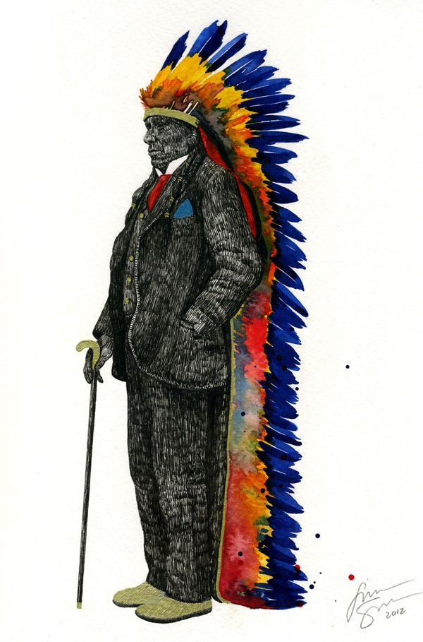Chief for Cara - Painting by TIPI THIEVES