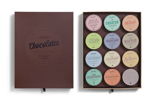 Chocolates With Attitude - open box - Package Design by Bessermachen Design Studio