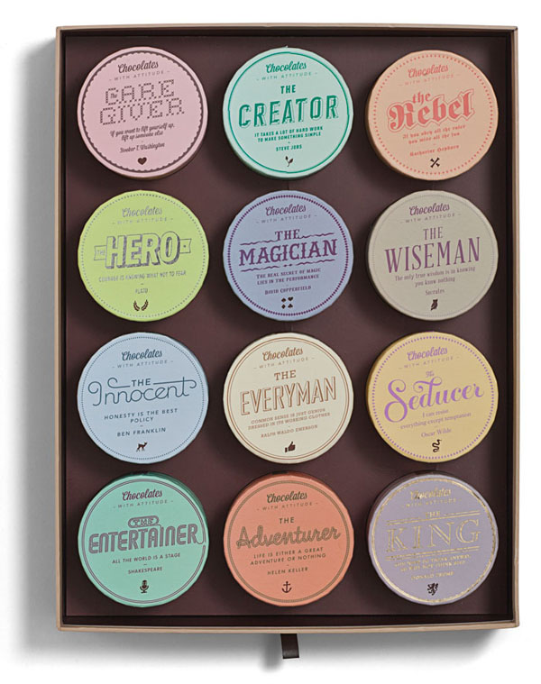 Chocolates With Attitude Packaging by Bessermachen Design Studio