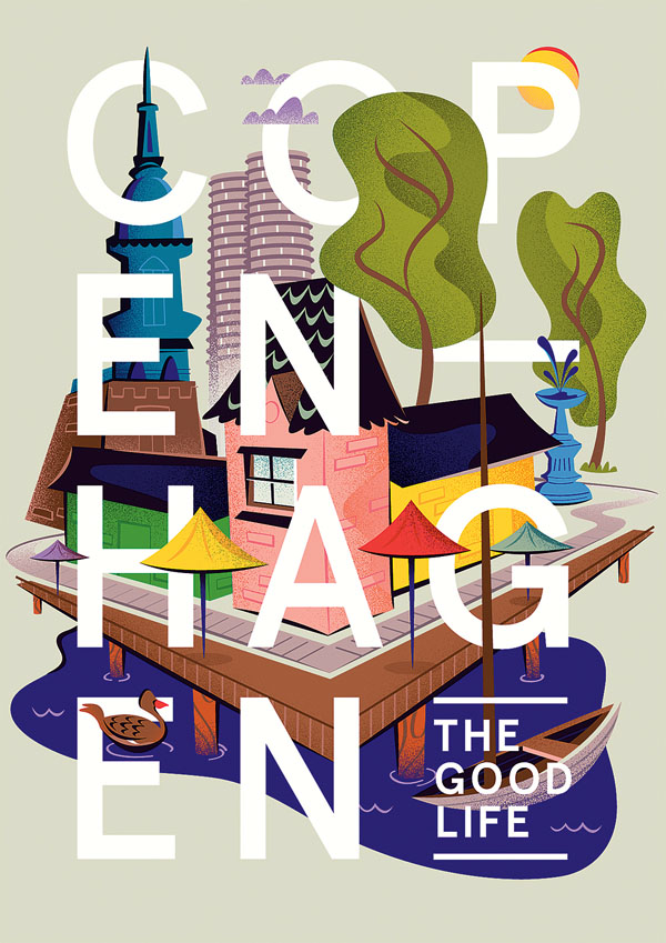 Copenhagen Illustrations  by Matt Chase for a City Map