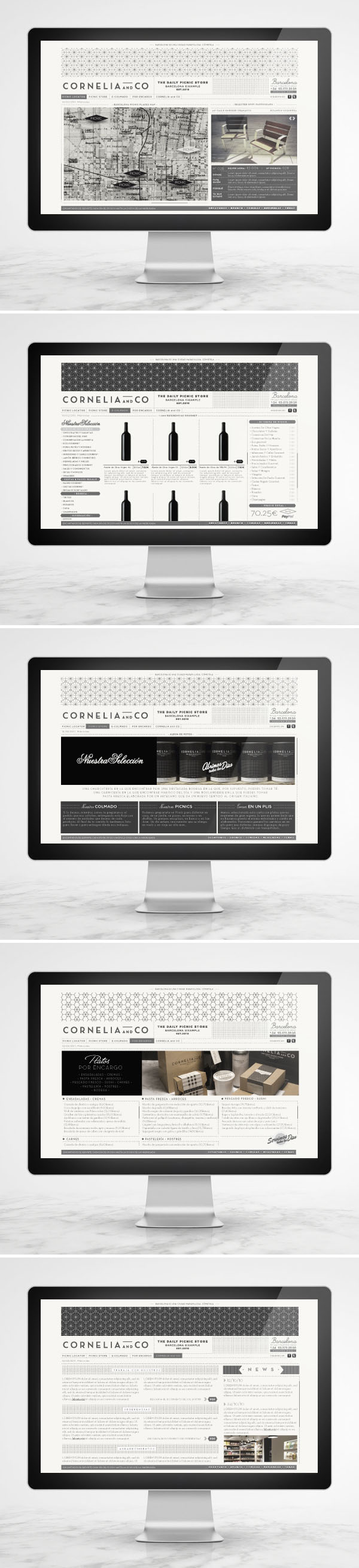 Cornelia and Co Website - Web Design by Oriol Gil