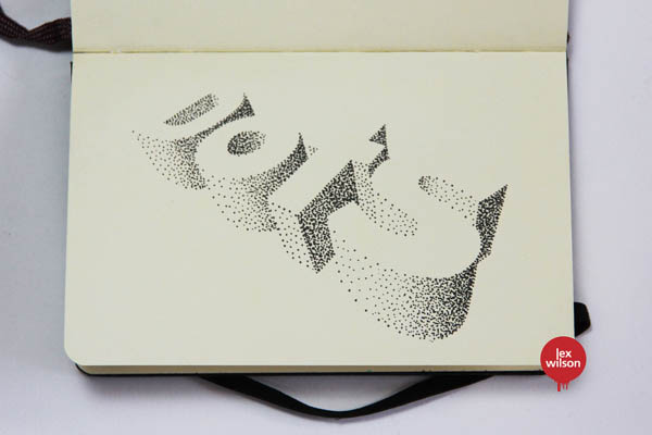 Dots - 3D Type Moleskine Illustration by Lex Wilson