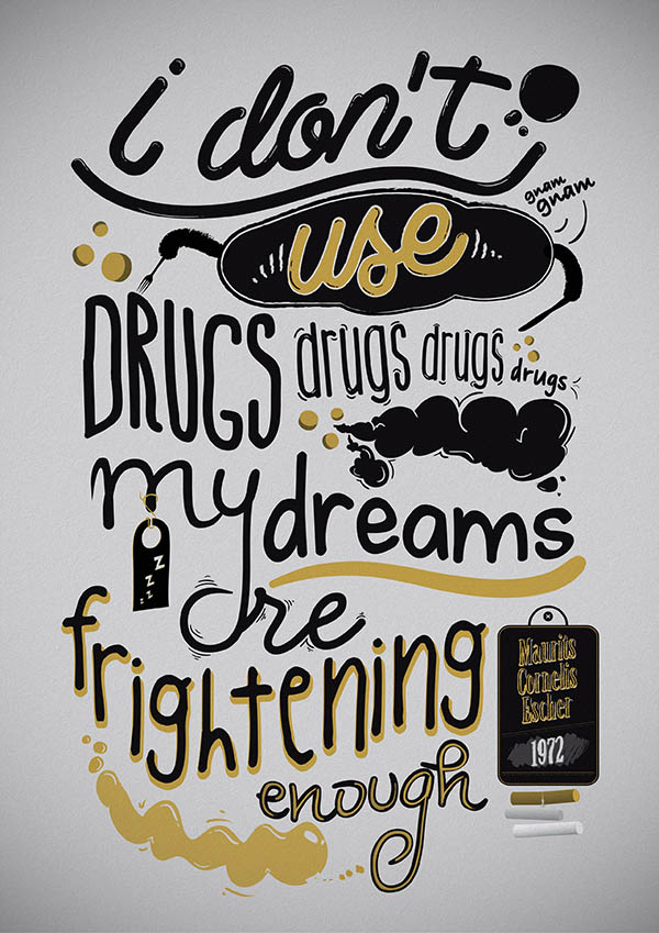 Eight 8 Typographic Illustration by Mirko Camia