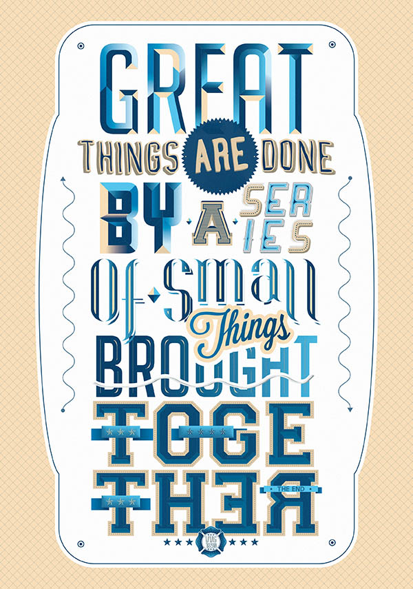 Eight 8 Typography Illustration by Mirko Camia