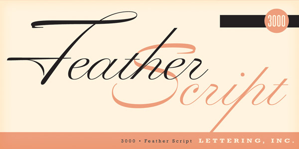 Feather Script  - handlettering typeface from the mid 1940s