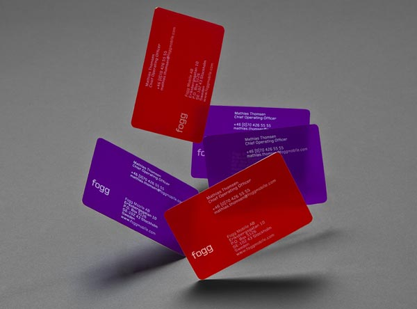 Fogg Business Cards by Kurppa Hosk