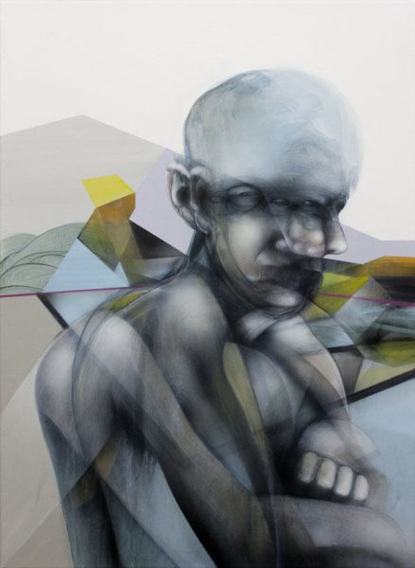 He kept disappearing - Painting by John Reuss