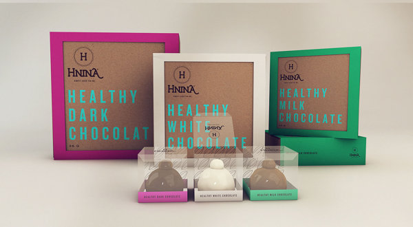 Hnina - Healthy Chocolates - Package Design by Isabela Rodrigues - Sweety Branding Studio