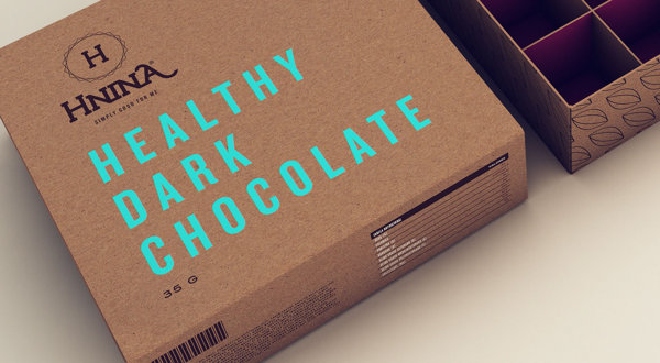 Hnina - Healthy Chocolates - Packaging by Isabela Rodrigues - Sweety Branding Studio