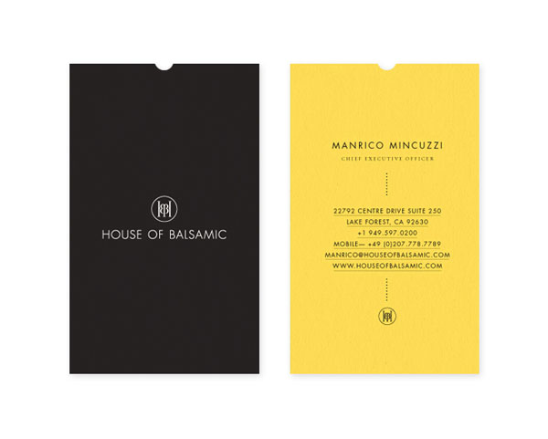 House of Balsamic - Business Cards