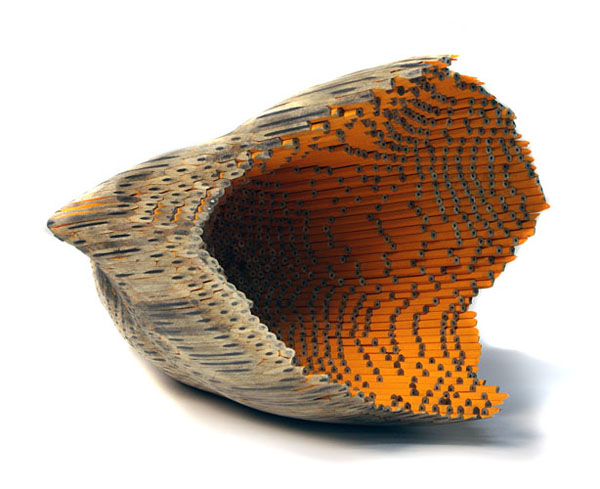 Pencil sculptures by jessica drenk