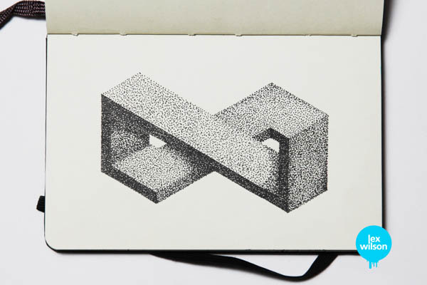 Infinity - Moleskine Illustration by Lex Wilson