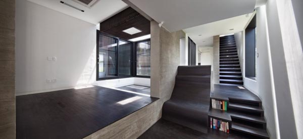 Inside the H-House in Seoul, Korea by design group bang by min