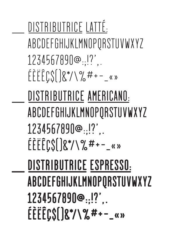 La Distributice - Corporate Typeface
