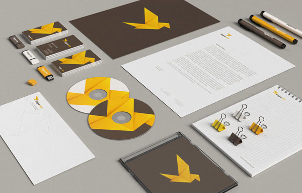 Lingua Viva - Language School Stationery Identity Concept by Necon