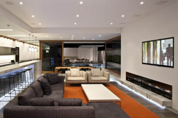 Living Room - Interior Design of the Harborview Hills by Laidlaw Schultz Architects