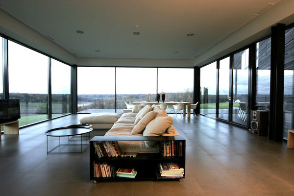 Living Room of the Utriai Residence in Lithuania by Natkevicius & Partners