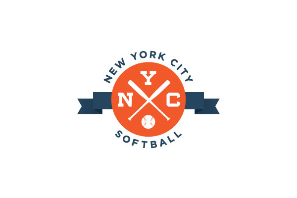 Logo Design by Wallace Design House for New York City Softball League