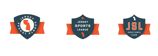 Logo ideas by Dustin Wallace for a New Jersey based sports league