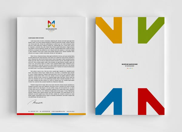 MNW - National Museum in Warsaw - Stationery Design
