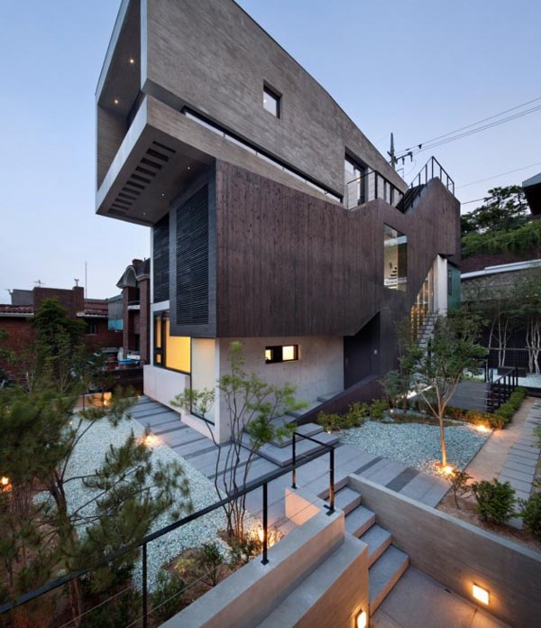 Modern H-House in Seoul, Korea by design group bang by min
