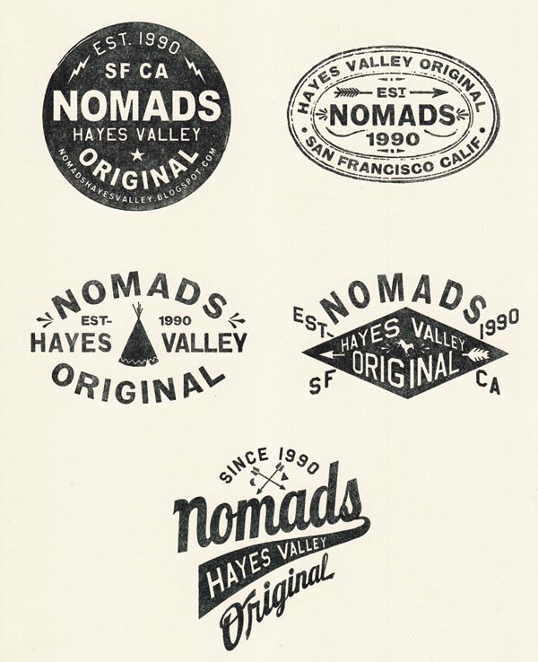 NOMADS CLOTHING STORE - Stamps designed by TIPI THIEVES
